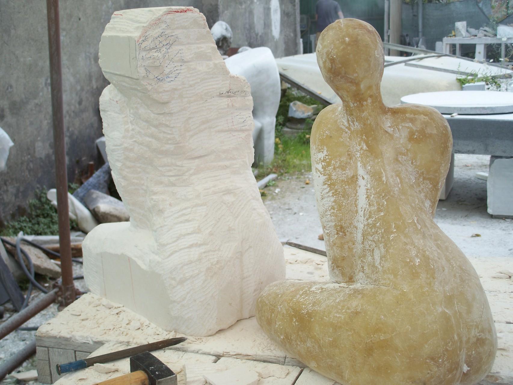 opbouw van Verlangen in Carrara (Italië)
