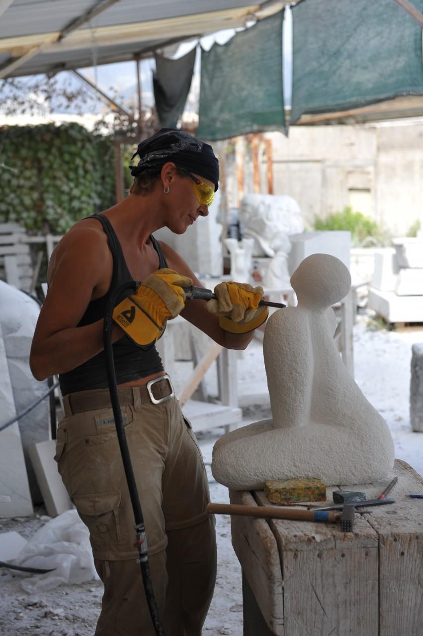 Verlangen in Turkse kalksteen