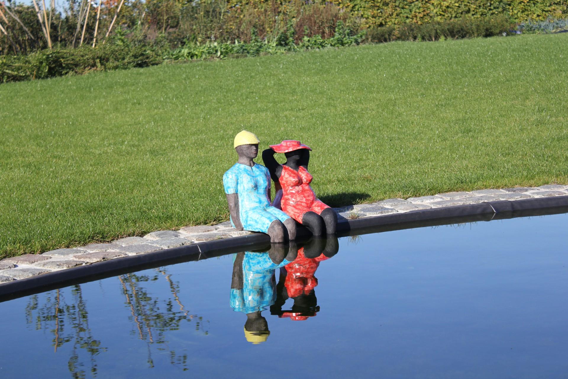 Kunst aan het zwembad