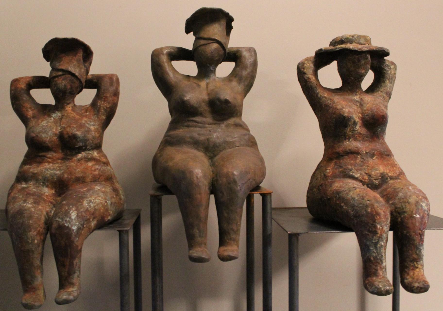 dames in brons