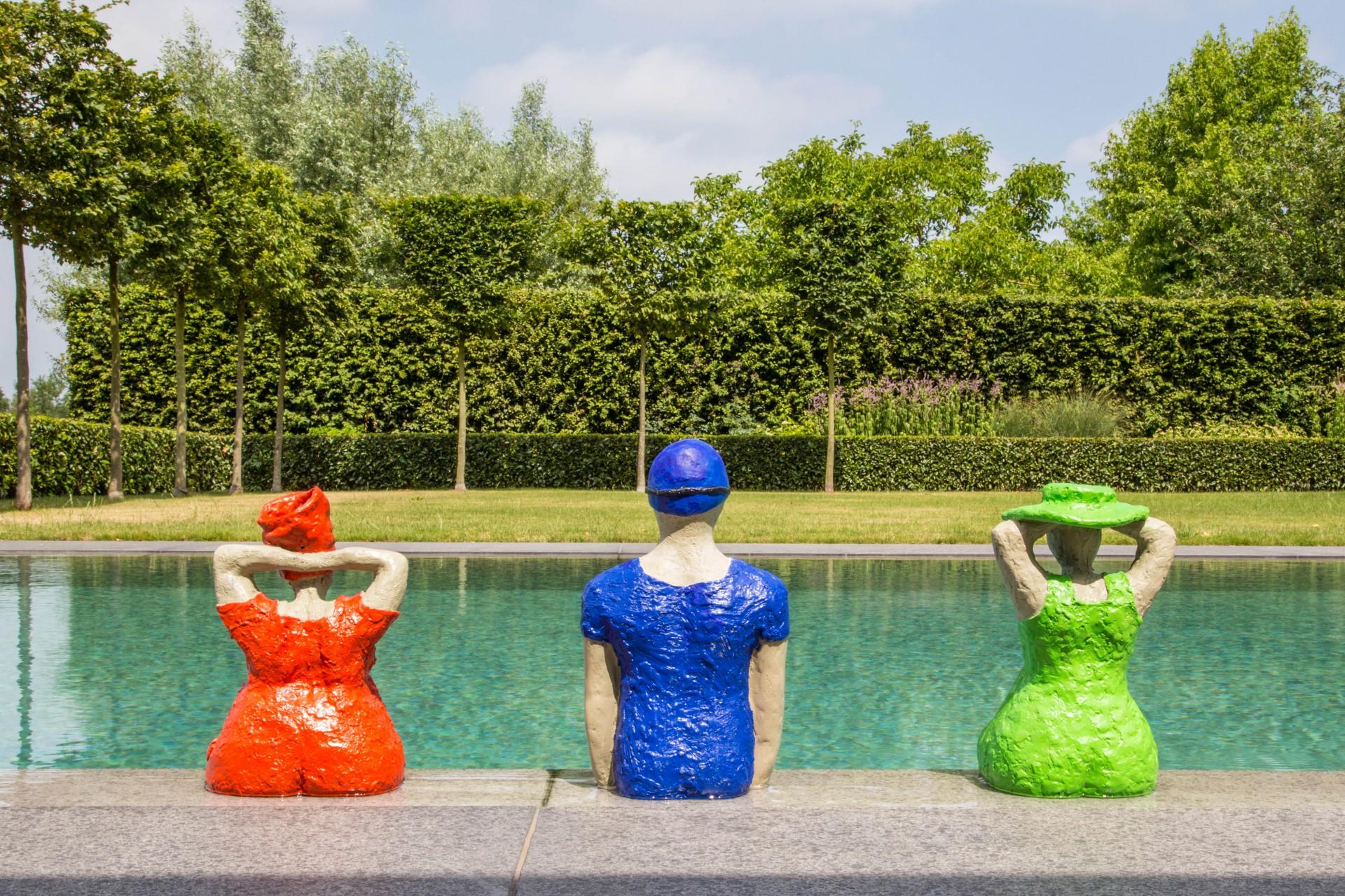 Dikke Madammen rood, blauw, groen